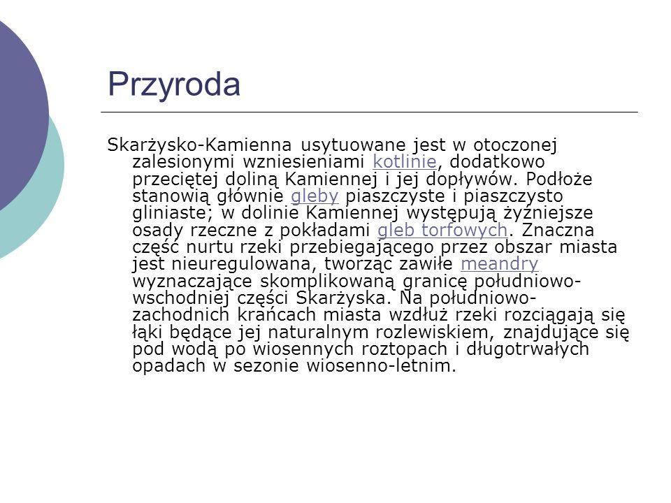 Położenie miasta Miasto Skarżysko-Kamienna położone jest nad rzeką Kamienną oraz jej dopływami Kamionką, Bernatką i Oleśnicą, na pograniczu Płaskowyżu