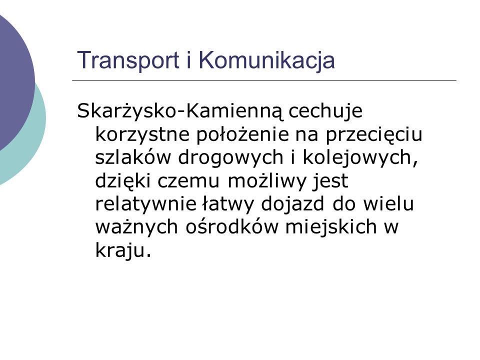 Transport i Komunikacja Skarżysko-Kamienną cechuje korzystne położenie na przecięciu szlaków drogowych i kolejowych, dzięki czemu możliwy jest relatywnie łatwy dojazd do wielu ważnych ośrodków miejskich w kraju.