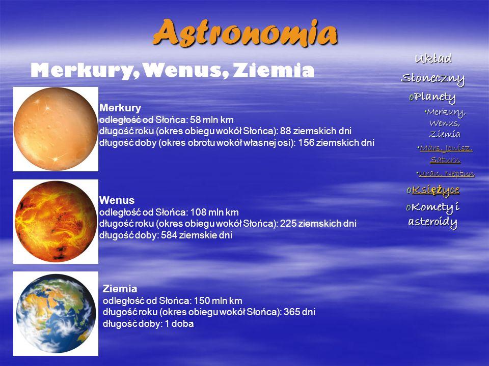 Mars, Jowisz, Saturn Mars odległość od Słońca: 228 mln km długość roku (okres obiegu wokół Słońca): 687 ziemskich dni długość doby: 24 godz.