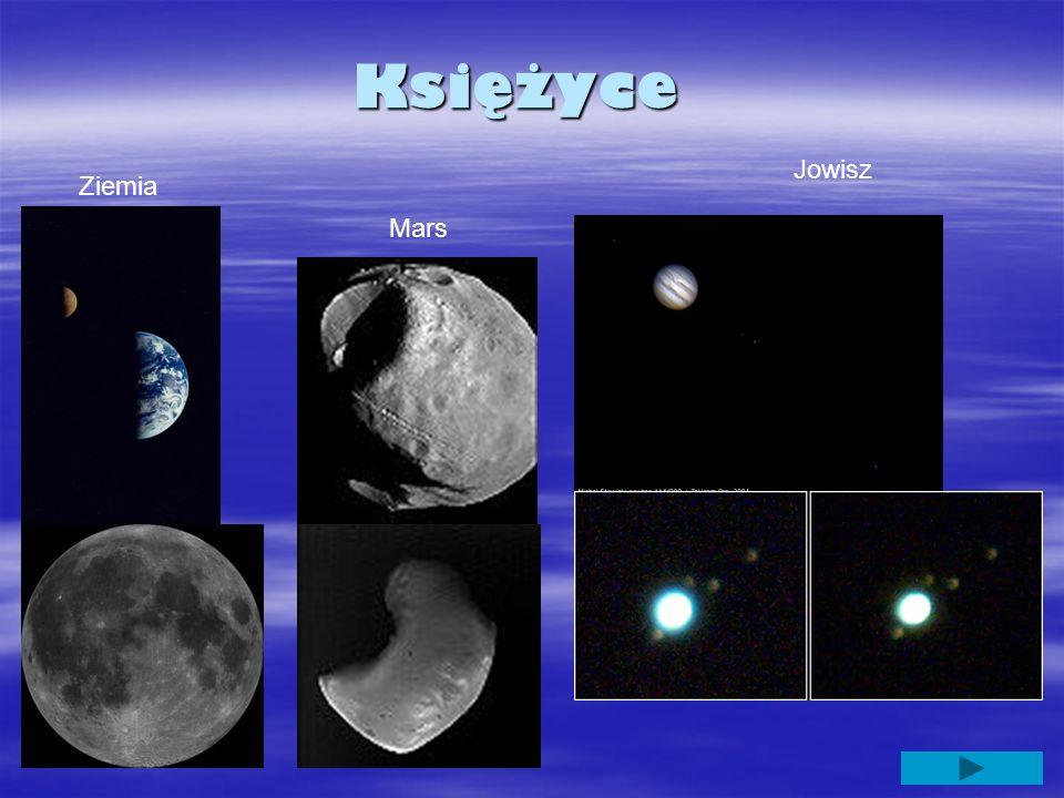Księżyce Ziemia Mars Jowisz