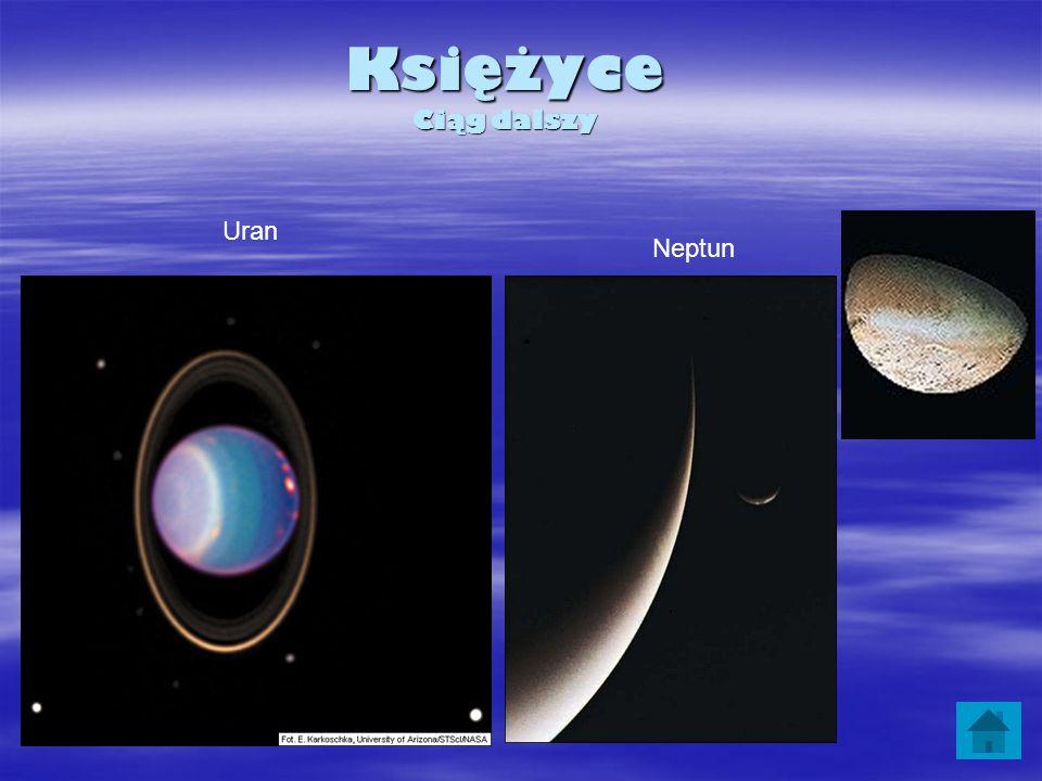 Księżyce Ciąg dalszy Uran Neptun