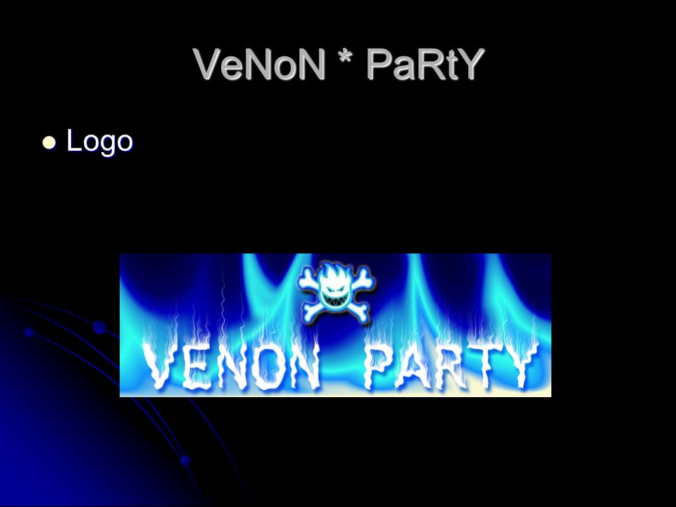 VeNoN * PaRtY Logo Logo