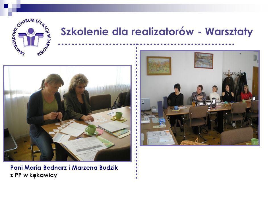 Szkolenie dla realizatorów - Warsztaty Pani Maria Bednarz i Marzena Budzik z PP w Łękawicy