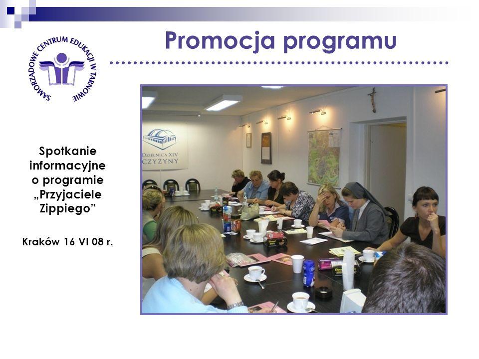 Promocja programu Spotkanie informacyjne o programie Przyjaciele Zippiego Kraków 16 VI 08 r.