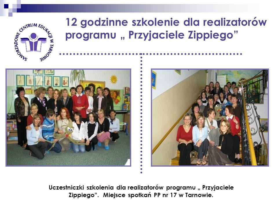12 godzinne szkolenie dla realizatorów programu Przyjaciele Zippiego Uczestniczki szkolenia dla realizatorów programu Przyjaciele Zippiego. Miejsce sp