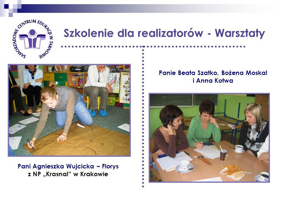 Szkolenie dla realizatorów - Warsztaty Panie Beata Szatko, Bożena Moskal i Anna Kotwa Pani Agnieszka Wujcicka – Florys z NP Krasnal w Krakowie