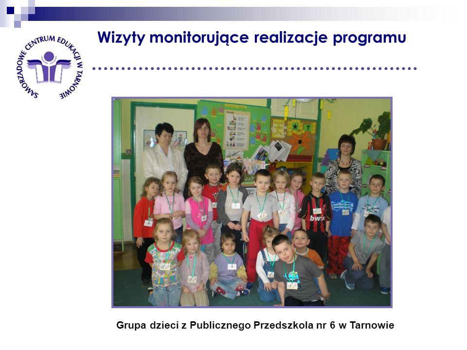 Wizyty monitorujące realizacje programu Grupa dzieci z Publicznego Przedszkola nr 6 w Tarnowie