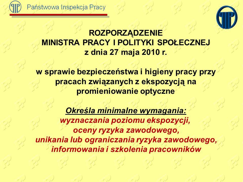 ROZPORZĄDZENIE MINISTRA PRACY I POLITYKI SPOŁECZNEJ z dnia 27 maja 2010 r.