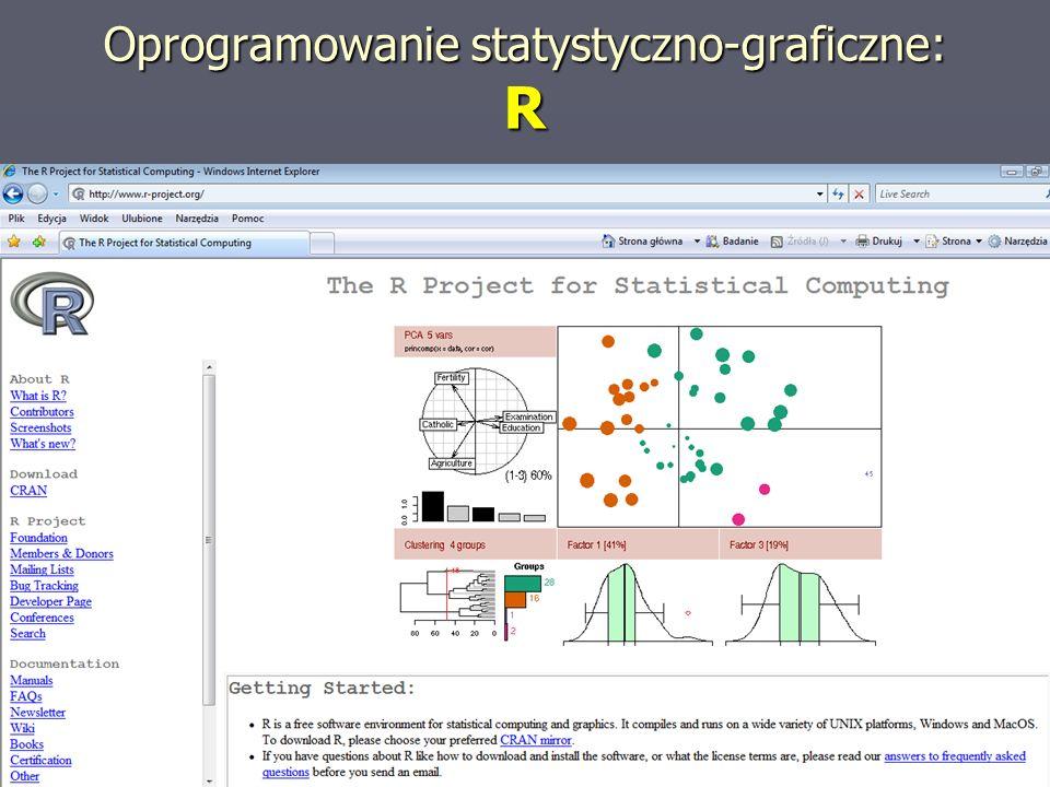 Oprogramowanie statystyczno-graficzne: R