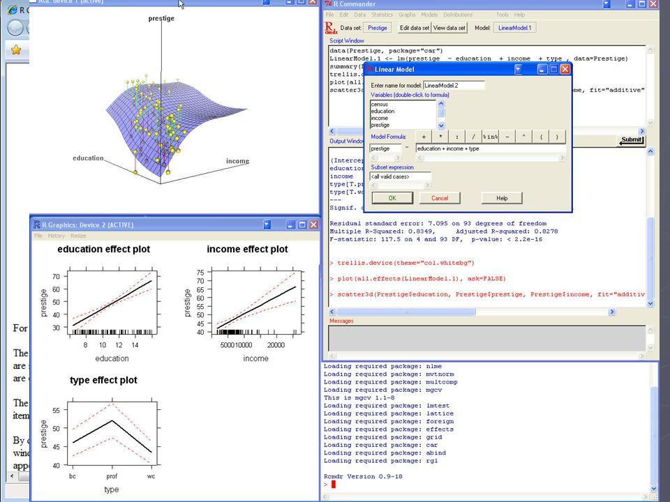 Oprogramowanie statystyczno-graficzne: R Commander