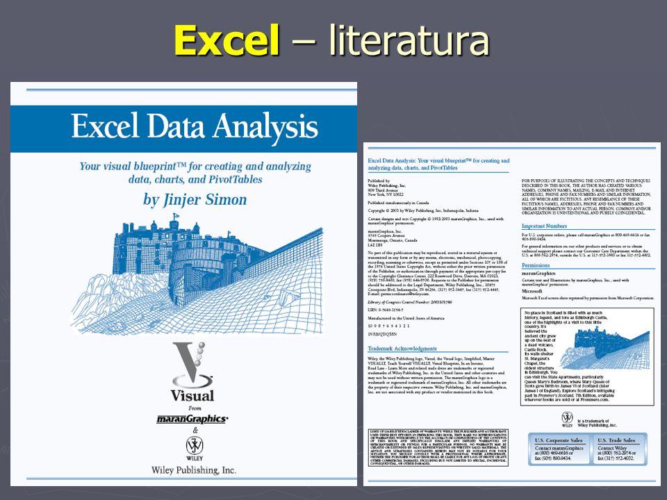 Excel – literatura