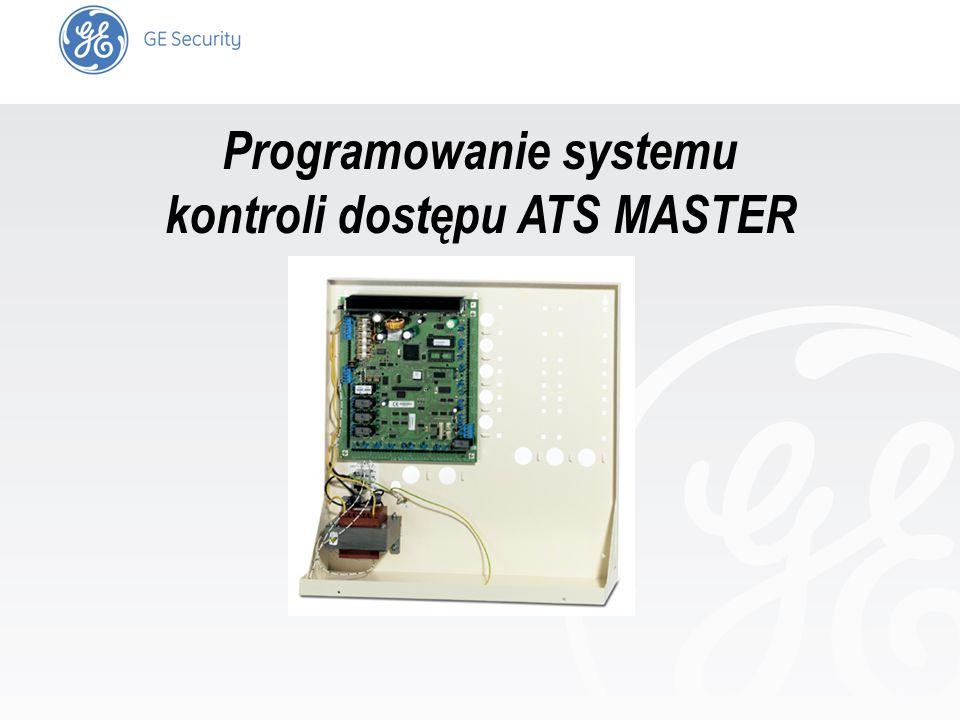 slide 1 Programowanie systemu kontroli dostępu ATS MASTER