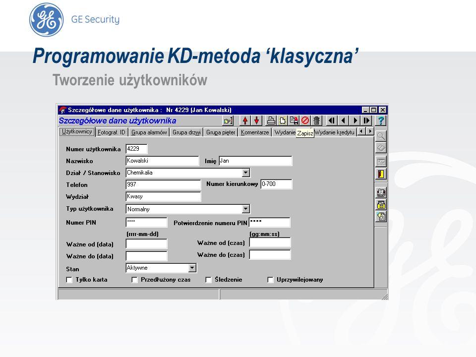 slide 32 Programowanie KD-metoda klasyczna Tworzenie użytkowników