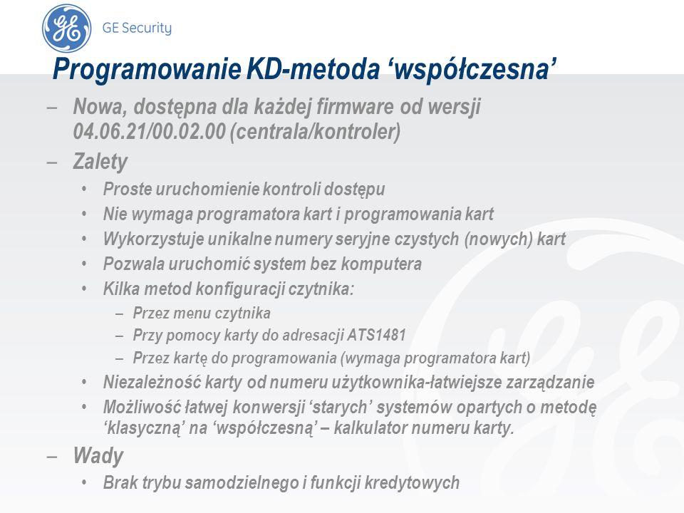 slide 35 – Nowa, dostępna dla każdej firmware od wersji 04.06.21/00.02.00 (centrala/kontroler) – Zalety Proste uruchomienie kontroli dostępu Nie wymag