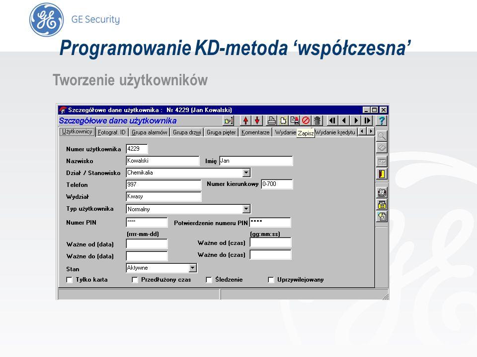 slide 52 Tworzenie użytkowników Programowanie KD-metoda współczesna