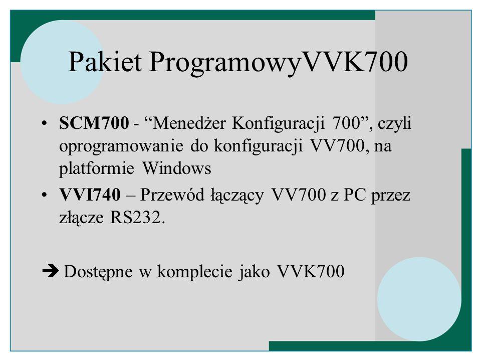 Rozszerzenia przekaźnikowe VV700 Dostępne rozszerzenia: –VVI760 = płytka przekaźników typ A –VVI770 = płytka przekaźników typ C Wszystkie transpondery zgodne ze standardem IEC 839-2 mogą być podłączone do VV700