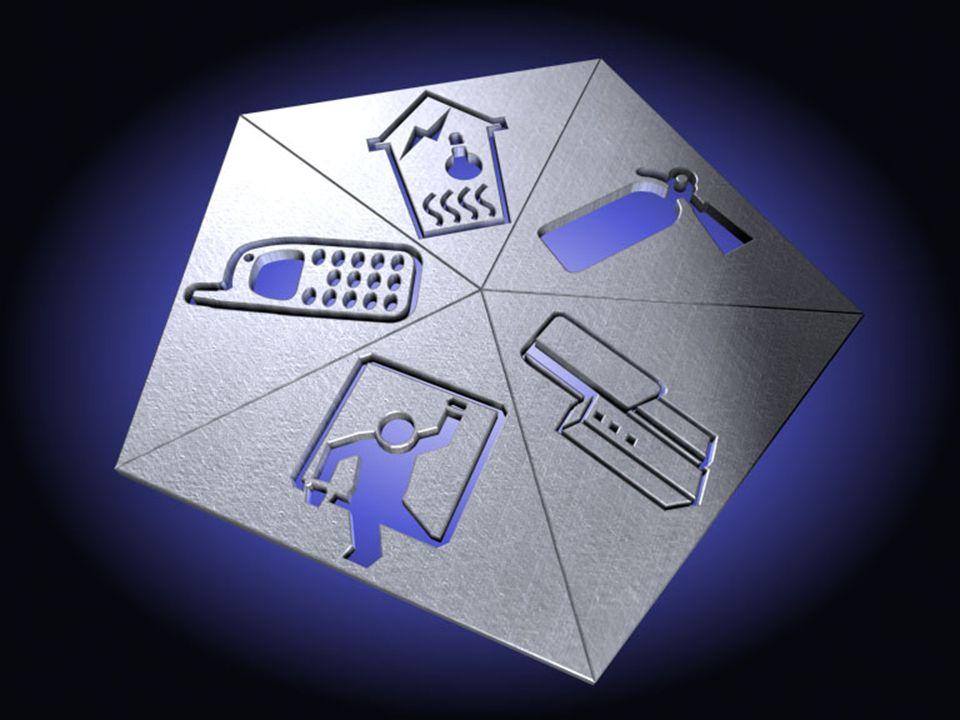 Linie dozorowe (6) Tworzenie obszarów wspólnych Dwie metody: –Przypisanie linii dozorowej do kilku obszarów Linia uzbraja się, gdy uzbroją się wszystkie obszary Linia rozbraja się, gdy jest rozbrojony przynajmniej jeden obszar Czas na wejście i wyjście – gdy zazbraja się jednocześnie kilka obszarów, obowiązuje najdłuższy czas Gdy alarm- generuje we wszystkich przypisanych obszarach Aby skasować alarm- użytkownik musi mieć uprawnienia dla poszczególnych obszarów –Łączenie obszarów Obszar wspólny jest sterowany stanem obszarów składowych Obszar wspólny tak stworzony może być osobno rozbrojony i zazbrojony Może mieć swoje czasy wejścia i wyjścia oraz stację SMA