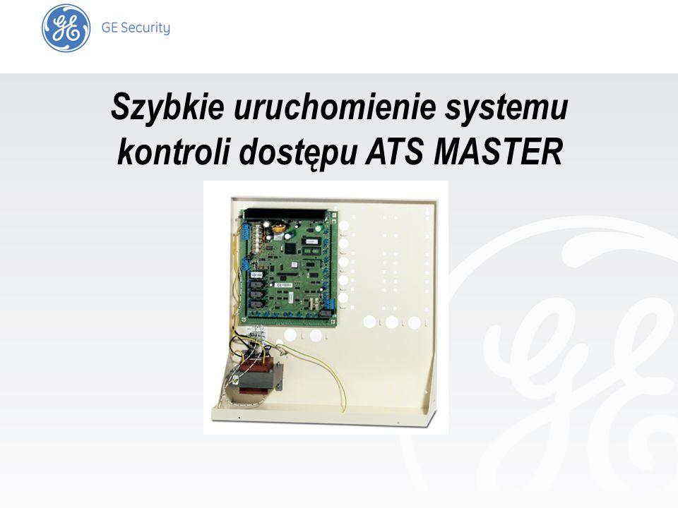 slide 1 Szybkie uruchomienie systemu kontroli dostępu ATS MASTER