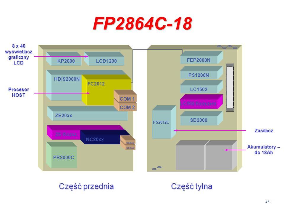 45 / Część przednia Część tylna HDIS2000N ZE20xx LCD1200KP2000 PR2000C SD2000 PS2012C PS1200N LC1502 SD2000 LC/RB Rozszerz ZE Rozsz. Akumulatory – do