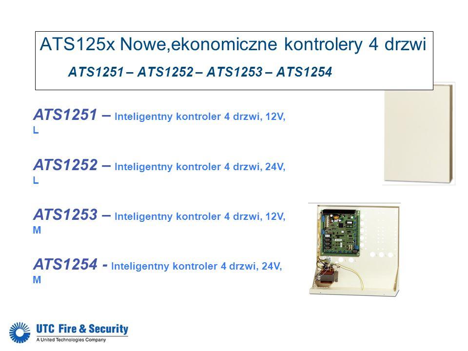 ATS1251 – Inteligentny kontroler 4 drzwi, 12V, L ATS1252 – Inteligentny kontroler 4 drzwi, 24V, L ATS1253 – Inteligentny kontroler 4 drzwi, 12V, M ATS