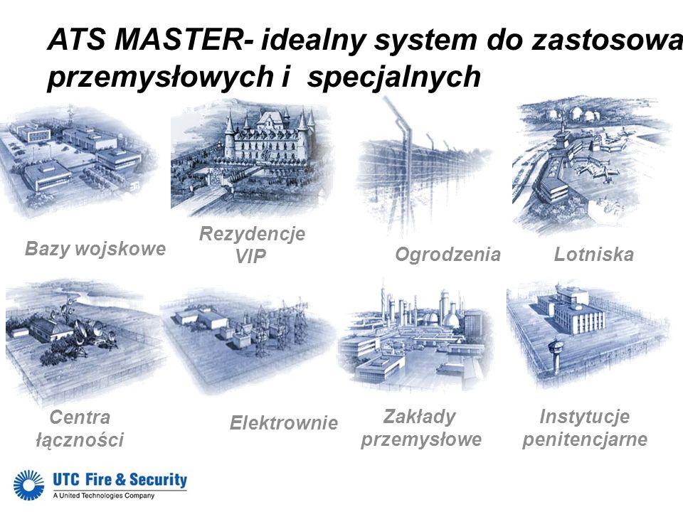 ATS MASTER- idealny system do zastosowań przemysłowych i specjalnych Bazy wojskowe Ogrodzenia Lotniska Rezydencje VIP Centra łączności Elektrownie Ins