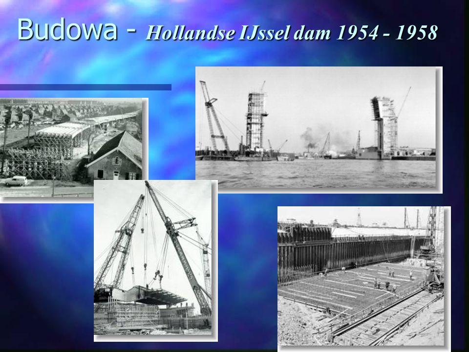 Budowa - Hollandse IJssel dam 1954 - 1958
