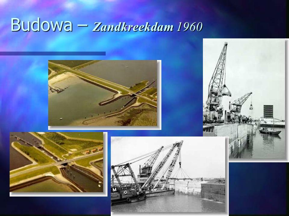 Budowa – Zandkreekdam 1960