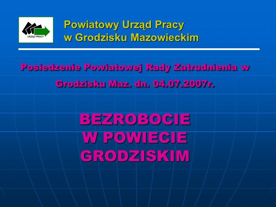 Powiatowy Urząd Pracy w Grodzisku Mazowieckim Posiedzenie Powiatowej Rady Zatrudnienia w Grodzisku Maz.