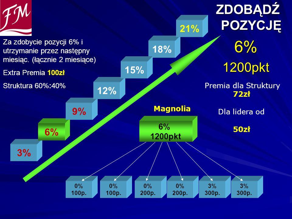 ZDOBĄDŹ POZYCJĘ ZDOBĄDŹ POZYCJĘ6%1200pkt 0% 100p. 0% 100p. 0% 200p. 6% 1200pkt 0% 200p. 3% 300p. 3% 300p. 3% 6% 9% 12% 18% 21% Premia dla Struktury 72