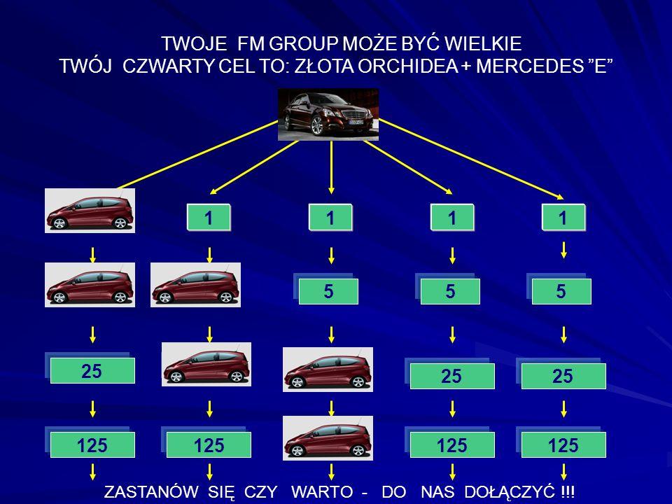 1111 5 25 JA 555 TWOJE FM GROUP MOŻE BYĆ WIELKIE TWÓJ CZWARTY CEL TO: ZŁOTA ORCHIDEA + MERCEDES E 1 5 125 25 ZASTANÓW SIĘ CZY WARTO - DO NAS DOŁĄCZYĆ