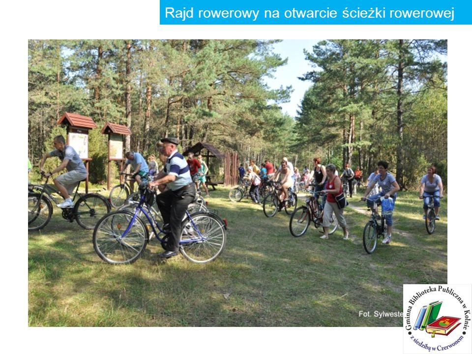 Rajd rowerowy na otwarcie ścieżki rowerowej