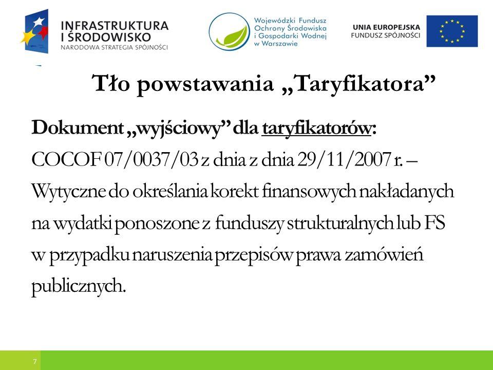 Błędy objęte Taryfikatorem, które wystąpiły w WFOŚiGW 3.Prowadzenie negocjacji dotyczących treści oferty - Naruszenie art.