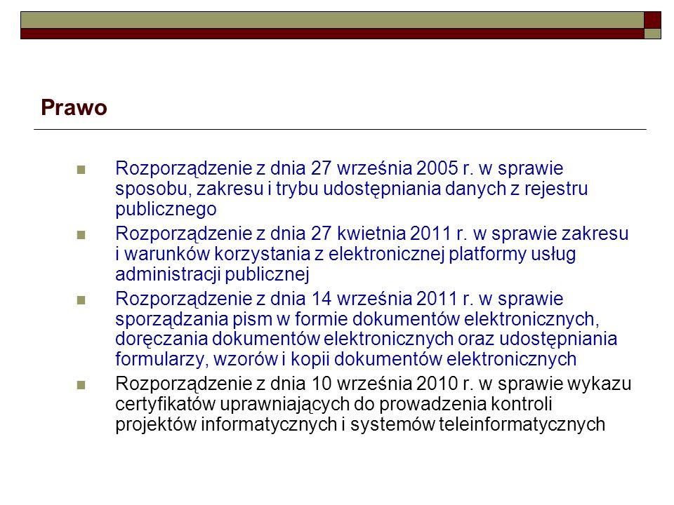 Prawo Rozporządzenie z dnia 27 kwietnia 2011 r.