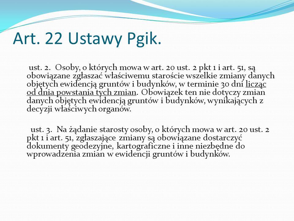 Art.22 Ustawy Pgik. ust. 2. Osoby, o których mowa w art.