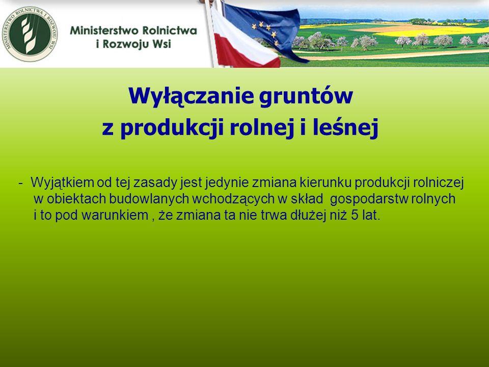 Kwiecień 2005 - Wyjątkiem od tej zasady jest jedynie zmiana kierunku produkcji rolniczej w obiektach budowlanych wchodzących w skład gospodarstw rolny
