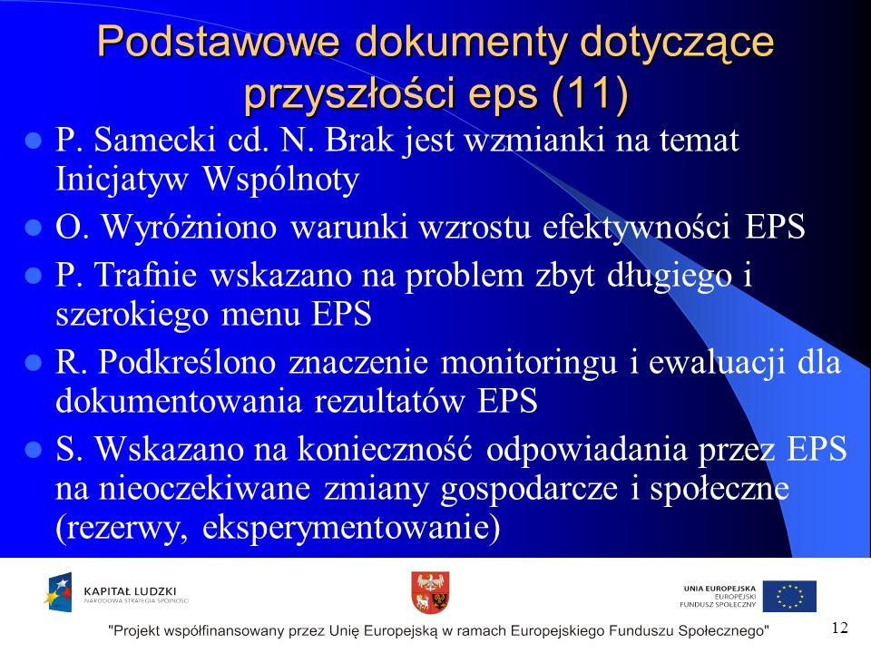 Podstawowe dokumenty dotyczące przyszłości eps (11) P.