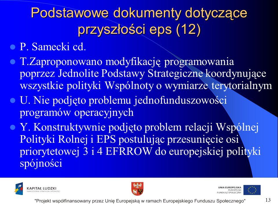 Podstawowe dokumenty dotyczące przyszłości eps (12) P.