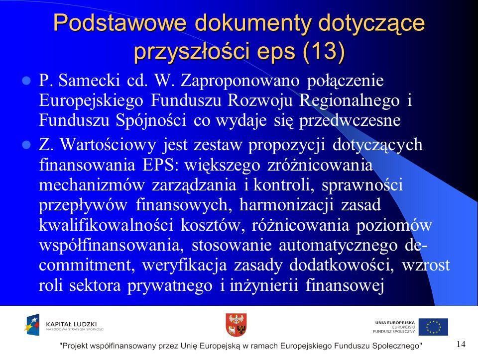 Podstawowe dokumenty dotyczące przyszłości eps (13) P.