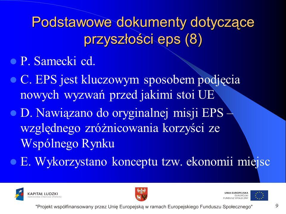 Podstawowe dokumenty dotyczące przyszłości eps (8) P.