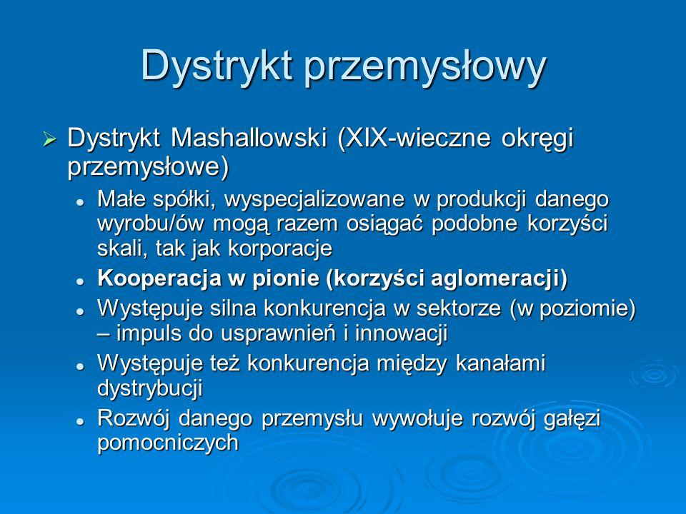 Dystrykt przemysłowy Dystrykt Mashallowski (XIX-wieczne okręgi przemysłowe) Dystrykt Mashallowski (XIX-wieczne okręgi przemysłowe) Małe spółki, wyspec