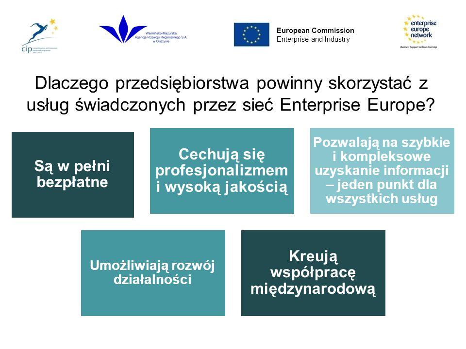 Dlaczego przedsiębiorstwa powinny skorzystać z usług świadczonych przez sieć Enterprise Europe.