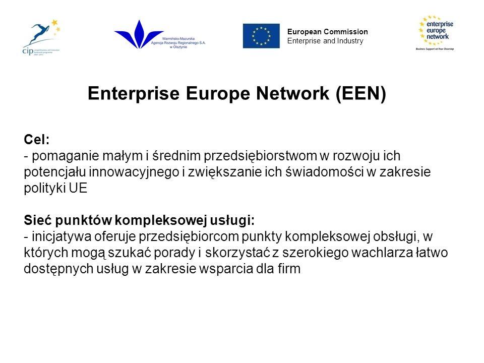Enterprise Europe Network UE 27 Norwegia, Islandia Armenia, Izrael, Szwajcaria Turcja, Macedonia European Commission Enterprise and Industry