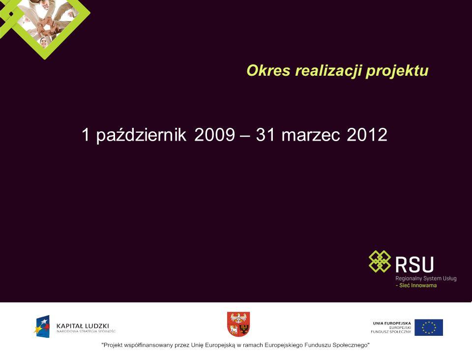 1 październik 2009 – 31 marzec 2012 Okres realizacji projektu
