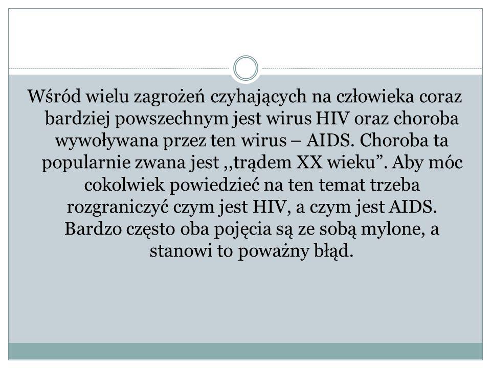 Wśród wielu zagrożeń czyhających na człowieka coraz bardziej powszechnym jest wirus HIV oraz choroba wywoływana przez ten wirus – AIDS. Choroba ta pop
