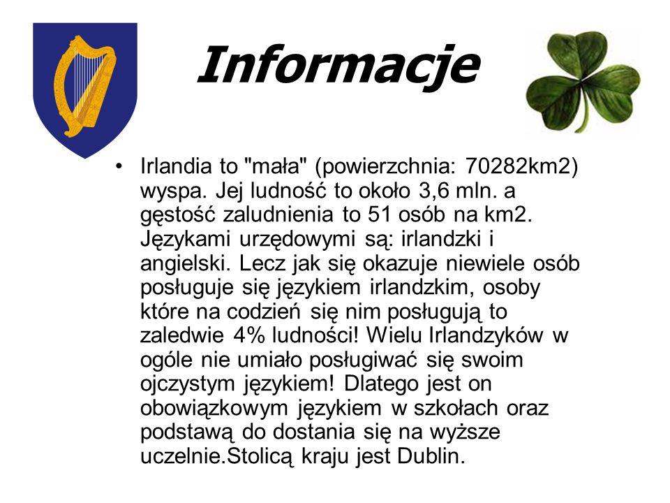 Informacje Irlandia to