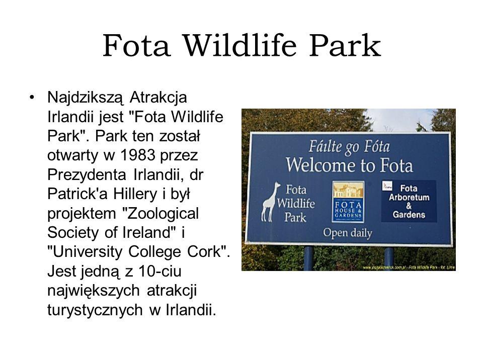 Fota Wildlife Park Najdzikszą Atrakcja Irlandii jest