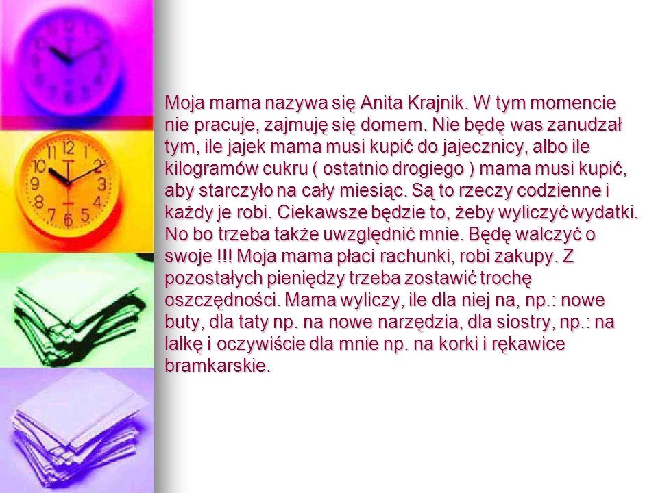 Matematyka w zawodzie. Kamil Krajnik Kamil Krajnik