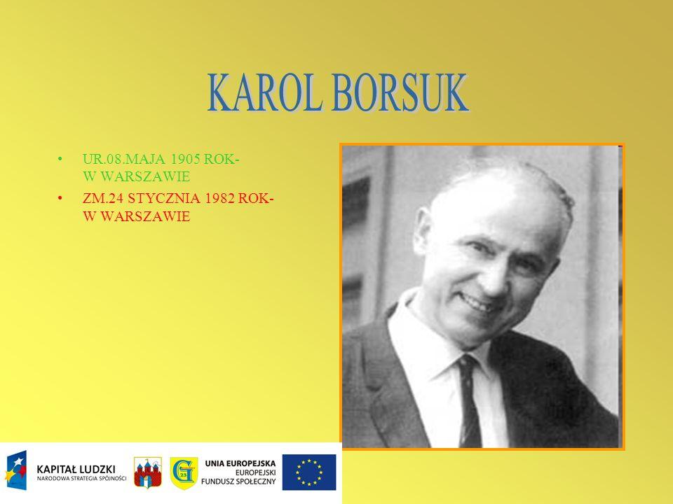 - Karol Borsuk (ur. 8 maja 1905 w Warszawie, zm. 24 stycznia 1982 w Warszawie) – polski matematyk, jeden z czołowych przedstawicieli warszawskiej szko