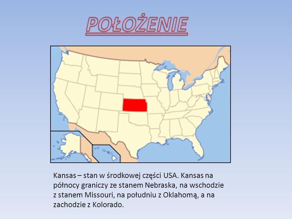 Kansas – stan w środkowej części USA. Kansas na północy graniczy ze stanem Nebraska, na wschodzie z stanem Missouri, na południu z Oklahomą, a na zach