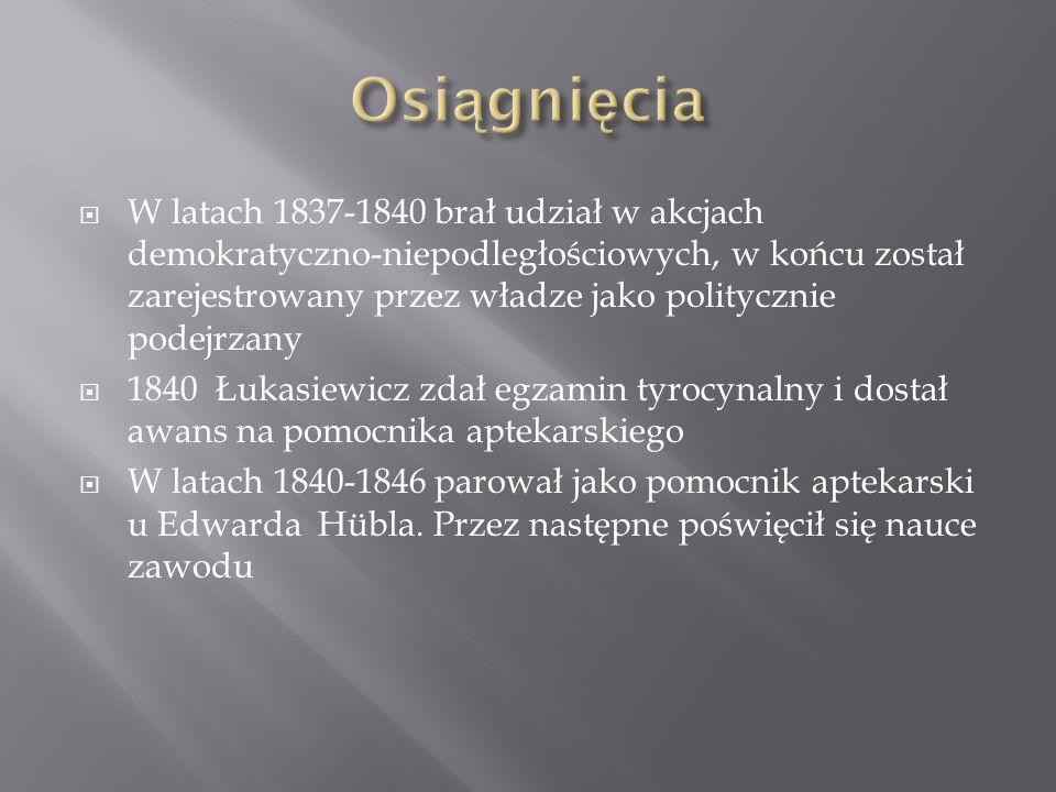 1848 roku podjął prace w aptece Pod złotą gwiazdą, w której właścicielem był Piotr Mikolasch.